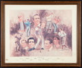 Golf Collectibles:Art, 1974 The Golf Immortals Oversized Art Display 424/3000....