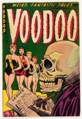Golden Age (1938-1955):Horror, Voodoo #14 (Farrell, 1954) Condition: VG....