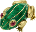 Estate Jewelry:Brooches - Pins, Ruby, Enamel, Gold Brooch, David Webb. ...