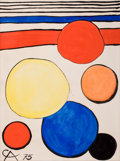 Impressionism & Modernism:Abstraction, ALEXANDER CALDER (American, 1898-1976). Untitled, 1975.Gouache on paper. 30-1/2 x 23 inches (77.5 x 58.4 cm). Initialed...