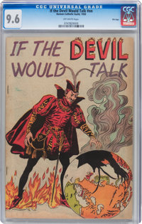 If the Devil Would Talk #nn File Copy (Impact, 1950) CGC NM+ 9.6 Off-white pages