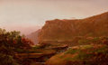 Fine Art - Painting, American:Antique  (Pre 1900), WILLIAM LOUIS SONNTAG (American, 1822-1900). View of theAdirondacks, 1864. Oil on canvas on masonite. 24 x 40 inches(6...