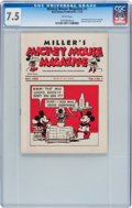 Platinum Age (1897-1937):Miscellaneous, Mickey Mouse Magazine Dairy Giveaway V1#1 (Walt Disney Productions,1933) CGC VF- 7.5 White pages....