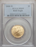 Modern Issues, 2008-W G$5 Bald Eagle MS69 PCGS. PCGS Population (527/480). NGCCensus: (117/894). Numismedia Wsl. Price for problem free ...