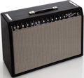 Musical Instruments:Amplifiers, PA, & Effects, 1965 Fender Deluxe Reverb Black Guitar Amplifier, Serial # A05996....