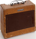 Musical Instruments:Amplifiers, PA, & Effects, 1955 Fender Deluxe Tweed Guitar Amplifier, Serial # 4064....
