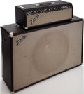 Musical Instruments:Amplifiers, PA, & Effects, 1966 Fender Showman Black Guitar Amplifier, Serial # A07359....