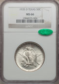 Commemorative Silver: , 1935-D 50C Texas MS66 NGC. CAC. NGC Census: (673/162). PCGSPopulation (713/203). Mintage: 10,007. Numismedia Wsl. Price fo...