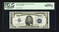 Small Size:Silver Certificates, Fr. 1654* $5 1934D Narrow Silver Certificate. PCGS Gem New 66PPQ.. ...