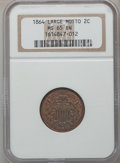 Two Cent Pieces: , 1864 2C Large Motto MS65 Brown NGC. NGC Census: (238/31). PCGSPopulation (48/2). Mintage: 19,847,500. Numismedia Wsl. Pric...