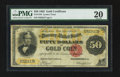 Large Size:Gold Certificates, Fr. 1194 $50 1882 Gold Certificate PMG Very Fine 20.. ...