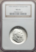 Commemorative Silver: , 1926 50C Sesquicentennial MS64 NGC. NGC Census: (1773/282). PCGSPopulation (2004/276). Mintage: 141,120. Numismedia Wsl. P...
