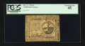 Colonial Notes:Continental Congress Issues, Continental Currency February 17, 1776 $2 PCGS Extremely Fine 45.....