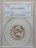 Jefferson Nickels: , 1949 5C MS64 Full Steps PCGS. PCGS Population (10/17). NGC Census:(0/0). Numismedia Wsl. Price for problem free NGC/PCGS ...