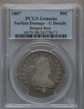 Early Half Dollars: , 1807 50C Draped Bust -- Damaged -- PCGS Genuine. G Details.Mintage: 301,076. (#6079)...
