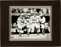 Baseball Collectibles:Photos, Snider, Jorgensen, Reese and Stanky Signed 3-D Photograph Display....