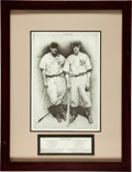 Baseball Collectibles:Others, Joe DiMaggio and Lou Gehrig Charcoal Painting Display....