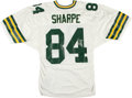 Football Collectibles:Uniforms, Sterling Sharpe Signed Green Bay Packers Jersey....