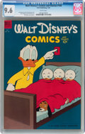 Golden Age (1938-1955):Cartoon Character, Walt Disney's Comics and Stories #166 (Dell, 1954) CGC NM+ 9.6White pages....