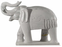 A Pair of Carved Asian Elephants Unknown maker, Asian Early 20th century Jade Unmarked 54 x 49 inches Weight 5,000 l