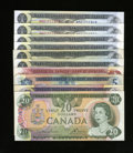 Canadian Currency: , Canadian Notes.. ... (Total: 10 notes)