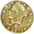 California Fractional Gold: , 1871 25C Liberty Round 25 Cents, BG-838, R.2, AU58 NGC. PCGSPopulation (64/271). (#10699)...
