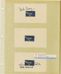 Explorers:Space Exploration, Lot of Nine Astronaut Signatures, including: Dick Covey, Robert L.Gibson, Guion S. Bluford, Terry J. Hart, Rick Hauer, Geor...(Total: 9 Item)
