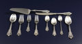 Silver & Vertu, An American Silver Flatware Service. Wallace Silversmiths, Wallingford, Connecticut. Circa 1941. Silver and stainless stee... (Total: 65 Items)