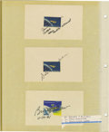 Explorers:Space Exploration, Lot of Seven Astronaut Signatures, including: Edward Lu, FrederickW. Sturckow, Donald A. Melroy, James F. Buchli, Dale Gard...(Total: 7 Item)