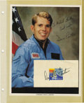 Explorers:Space Exploration, Lot of Six Astronaut Signatures, including: Robert Tedford, DaveLeetsma, Franklin Chang-Daiz, and Bonnie J. Dunbar. Each si...(Total: 6 Item)