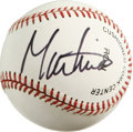 Autographs:Baseballs, Martina Navratilova Single Singed Baseball. Having won 18 GrandSlam singles titles, 31 Grand Slam Women's double titles, a...