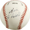 Autographs:Baseballs, Rosie O'Donnell Single Signed Baseball. Sometimes controversial andalways entertaining, Rosie O'Donnell adorns the side pa...