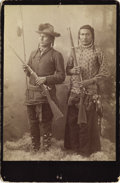 Photography:Cabinet Photos, Cabinet Card of Two Armed Native American Indians, ca. 1890s....
