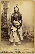 "Photography:Cabinet Photos, Cabinet Card of Native American Indian ""War Man"" (Sioux Chief),ca.1890s...."