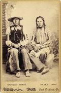 "Photography:Cabinet Photos, Cabinet Card of Indians ""Spotted Horse & Snake"" (SiouxWarriors), ca. 1890s...."