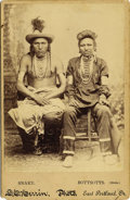 "Photography:Cabinet Photos, Cabinet Card of Indians ""Snake & Bottsotts"" (Sioux Warriors), ca. 1890s -..."