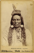 "Photography:Cabinet Photos, Cabinet Card Photograph of ""White Bear"" (Crow Chief), ca. 1890s...."
