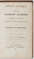 Books:Biography & Memoir, Jack Downing. The Life of Andrew Jackson. Greenback, 1834.First edition, first printing. Contemporary cloth wit...