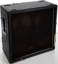 Musical Instruments:Amplifiers, PA, & Effects, 1980s Marshall 4 X 12 Black Speaker Cabinet, Serial # 15700....