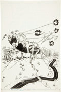 Original Comic Art:Covers, Win Mortimer Battle of the Planets #7 Cover Original Art(Whitman, 1980). ...