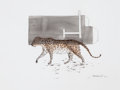 Post-War & Contemporary:Contemporary, ALOK BAL (Indian, b. 1969). Deer, Leopard (2), 2012.Watercolor on paper. Each: 8 x 10-1/2 inches (20.3 x 26.7 cm).Both... (Total: 2 Items)