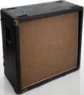 Musical Instruments:Amplifiers, PA, & Effects, Late 1960s Marshall 4 X 12 Straight Black Speaker Cabinet, Serial #14093....