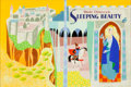 Animation Art:Production Drawing, Mary Blair Sleeping Beauty Book Cover WraparoundIllustration (Golden Press, 1958)....