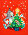 Original Comic Art:Covers, Tom and Jerry's Merry Christmas Cover Illustration OriginalArt (Golden Press, 1954)....