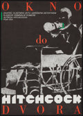 """Movie Posters:Hitchcock, Rear Window (Paramount, 1989). First Czech Release Poster (11.5"""" X 16.5""""). Hitchcock. ..."""