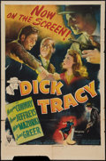 "Movie Posters:Crime, Dick Tracy (RKO, 1945). One Sheet (27"" X 41""). Crime.. ..."