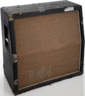 Musical Instruments:Amplifiers, PA, & Effects, Late 1960s Marshall 4 X 12 Slanted Black Speaker Cabinet, Serial #26064....