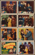 "Movie Posters:Adventure, International Crime (Grand National, 1938). Lobby Card Set of 8(11"" X 14""). Adventure.. ... (Total: 8 Items)"