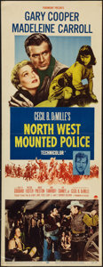 "Movie Posters:Adventure, North West Mounted Police (Paramount, R-1958). Insert (14"" X 36"").Adventure.. ..."