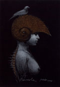 Latin American:Contemporary, ROBERTO FABELO (Cuban, b. 1950). Caracola (Conch), 2003.Pastel on cardboard. 28-1/2 x 26-1/2 inches (72.4 x 67.3 cm). S...